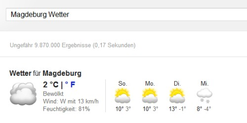 Das normale Wetter in Magdeburg