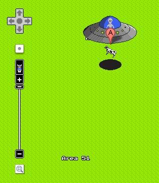 Ein UFO in der Area 51