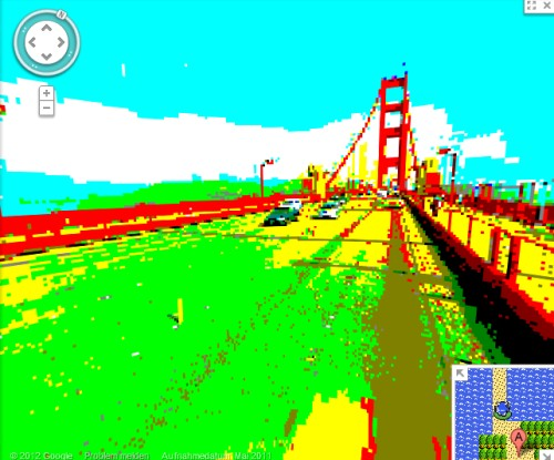 Google Streetview in 8-Bit