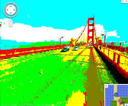 Google Streetview in 8-Bit