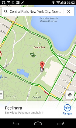 New York, Central Park mit 2 Pokemons