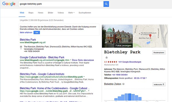 Entschlüsselte nachricht Bletchley Park