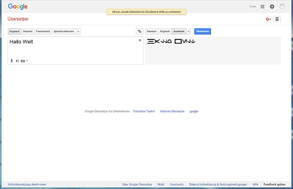 Screenshoot Google Translator