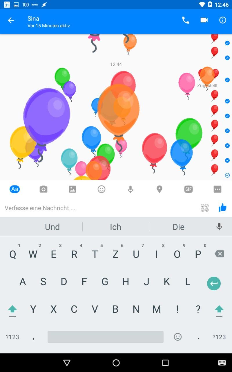 Ein Bildschirm voller Luftballons