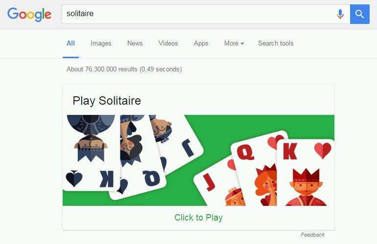 Suche nach Solitaire
