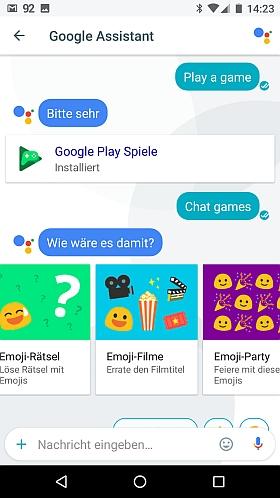 Eingabe von Chat game