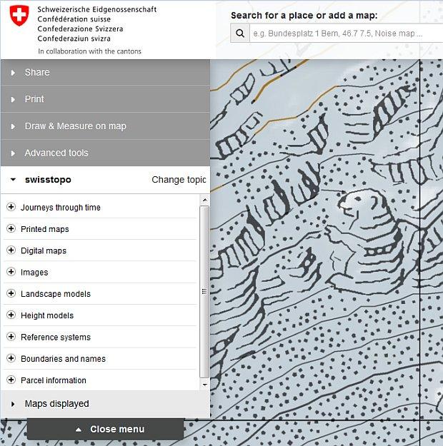 Ein Murmeltier in der Landkarte