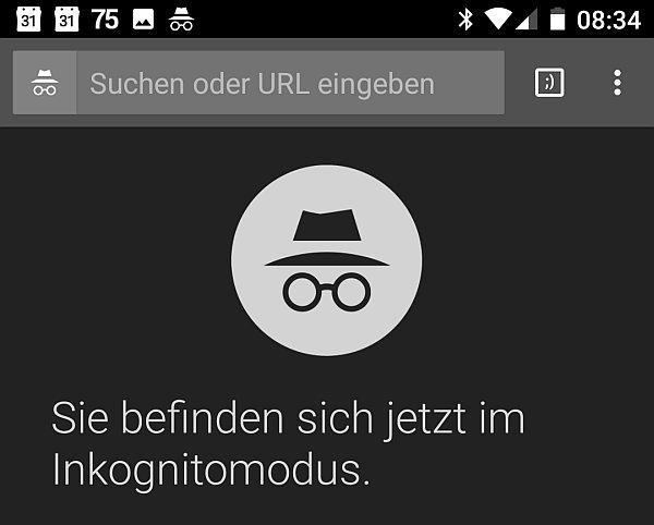 Der 100. Tab im Inkognito-Modus des Chrome Browser