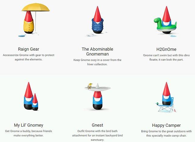 6 verschiedene Gnome