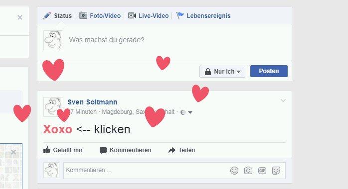 Herzen in Facebook