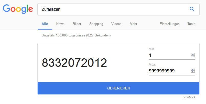 Höchster Wert ist die 9999999999