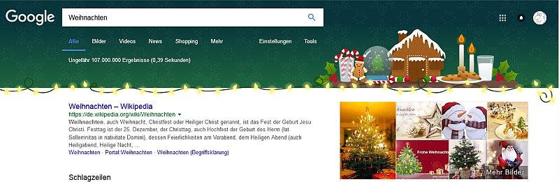 Googles Weihnachtsdeko 2017