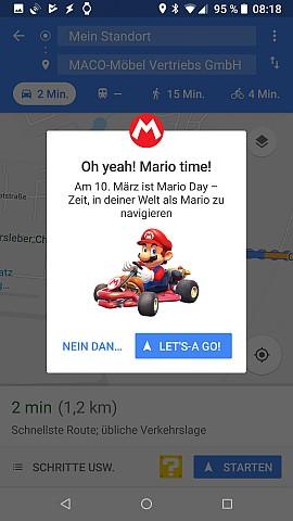 Startseite der Mario-Navigation