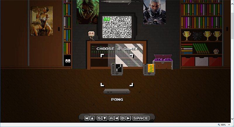 Zimmer mit Spielkonsole und 2 Spielen