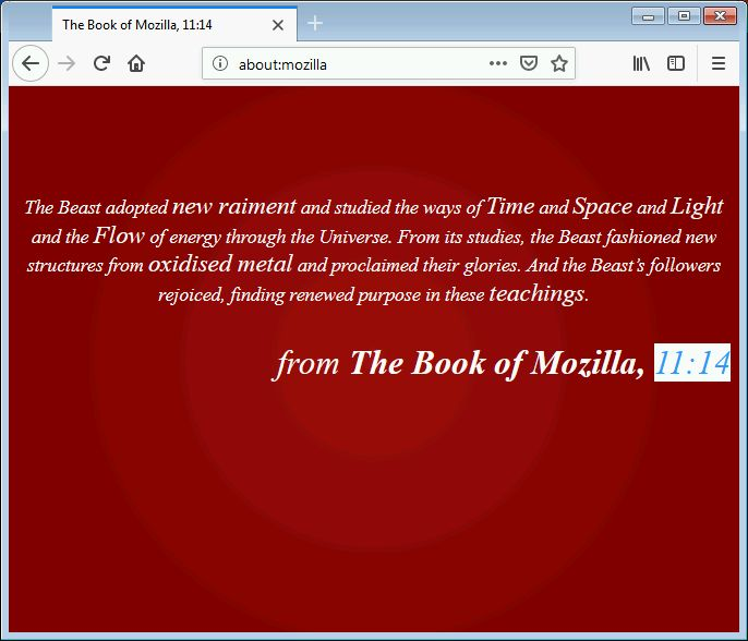 The Book of Mozilla 11:14