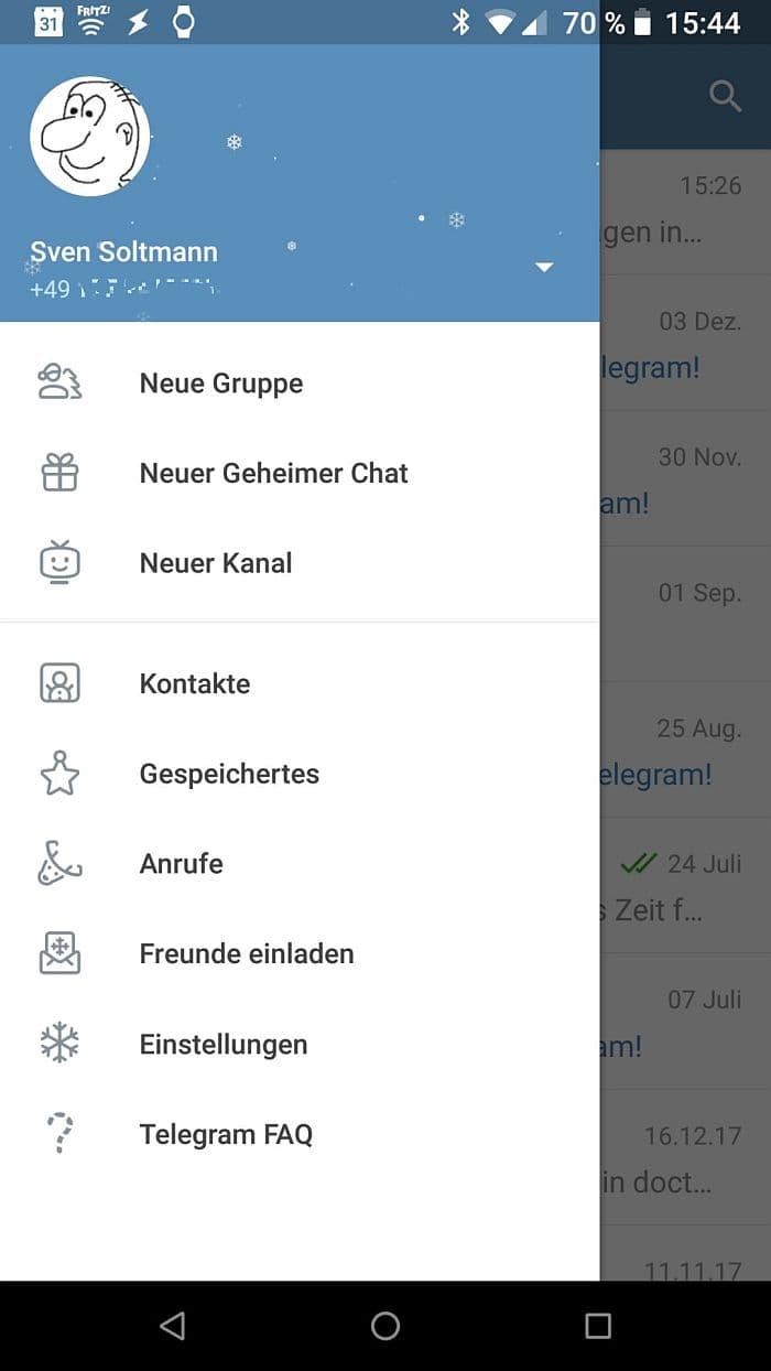 Telegram Messenger zum Jahreswechsel 2018