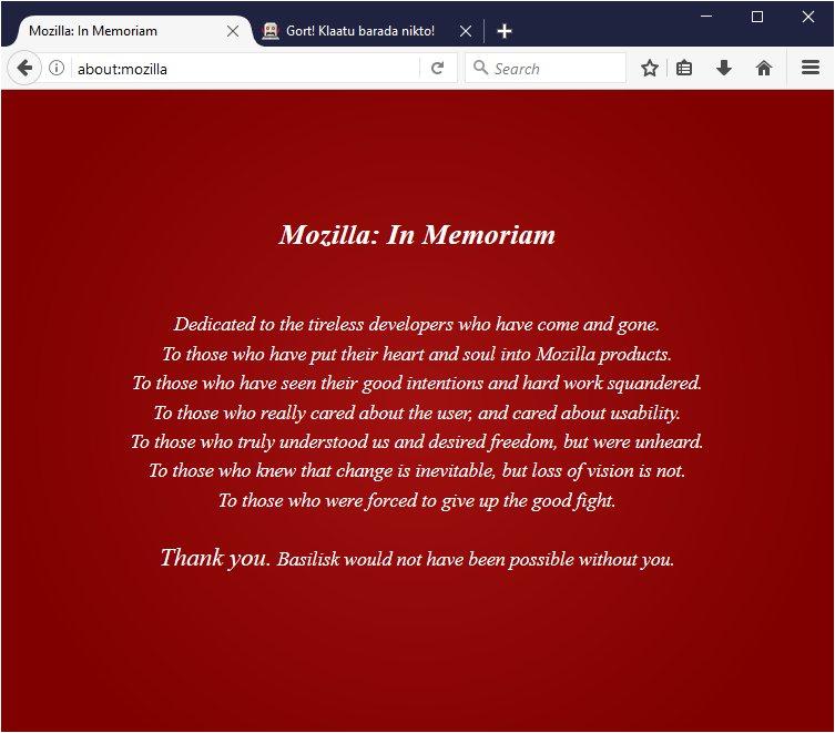 ein neues Kapitel aus dem Book of Mozilla