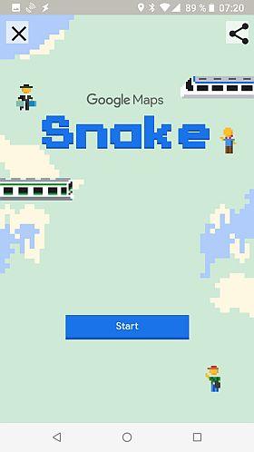 Startseite des Spiels