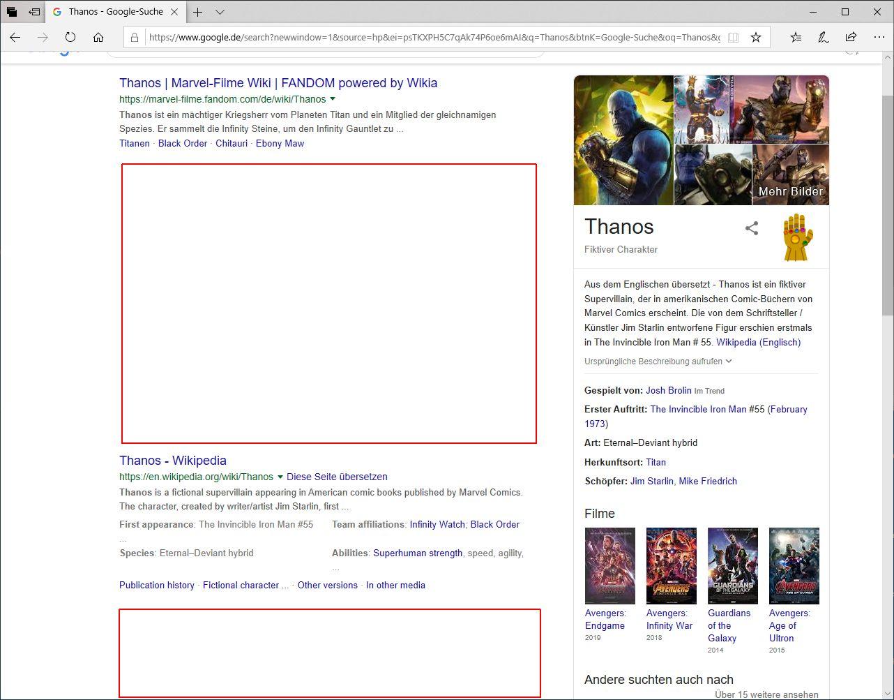 Suchergebnisse mit gelöschten Ergebnissen