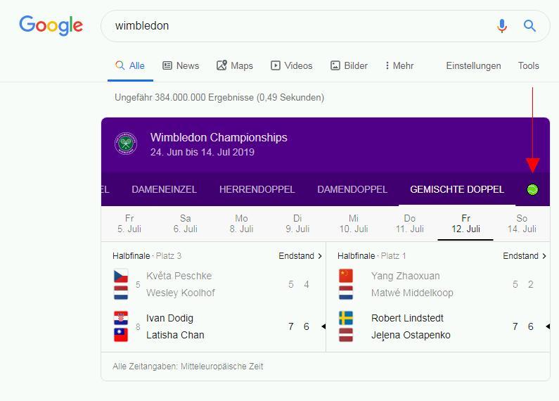 """Googlesuche nach """"Wimbledon"""""""