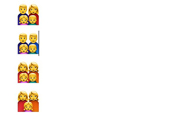 anderes Aussehen des Emojis auf dem iPad