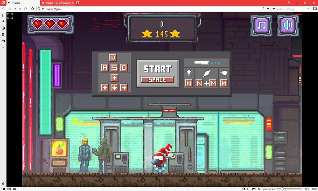"""Startseite des Spiels """"Vivaldia"""""""