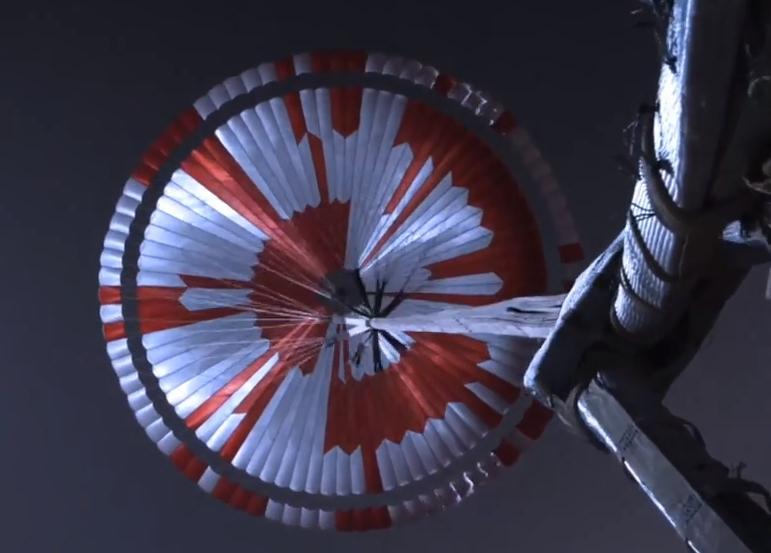 Landefallschirm des Mars-Rover