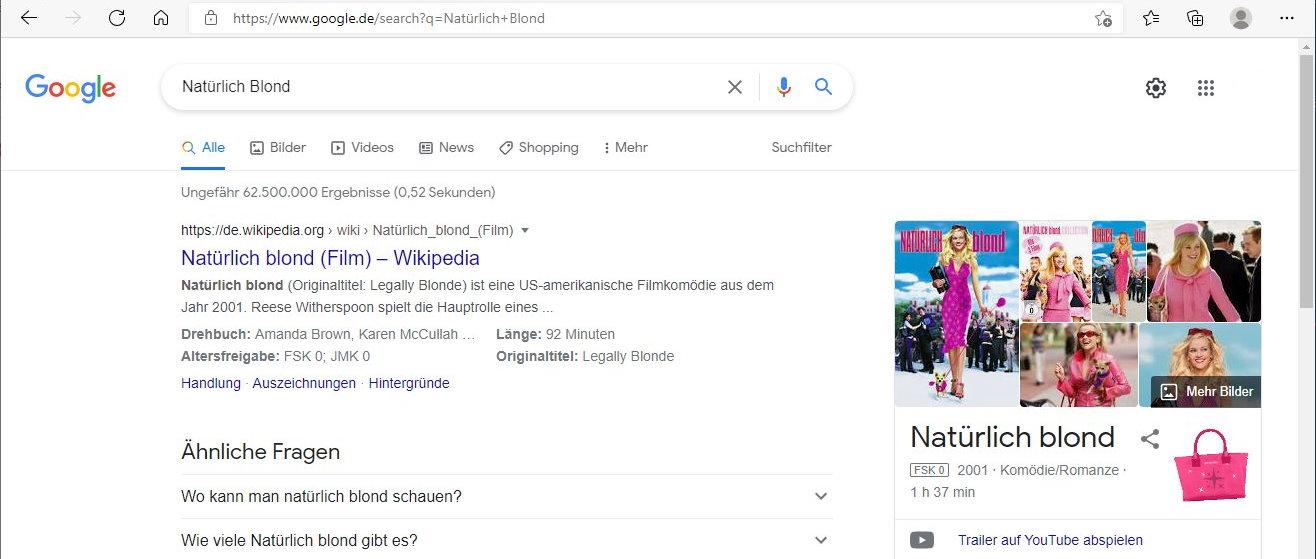 """Suchergebniss nach """"Natürlich Blond"""""""