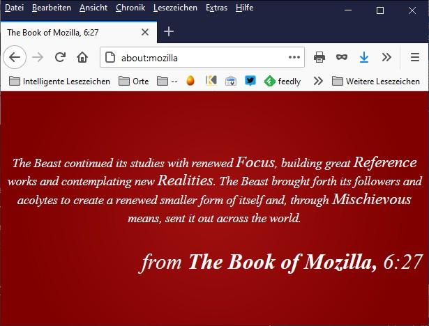 Kapitel 6:27 aus dem Buch Mozilla