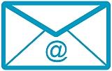 Briefumschlag mit @-zeichen als Bild