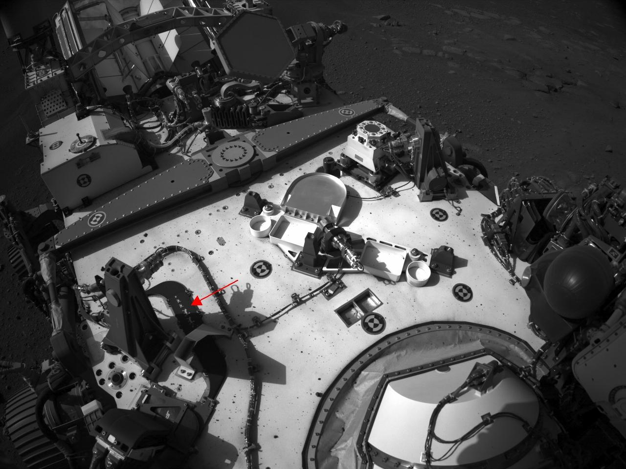 Mars Perseverance Sol 2: Right Navigation Camera (Navcam)