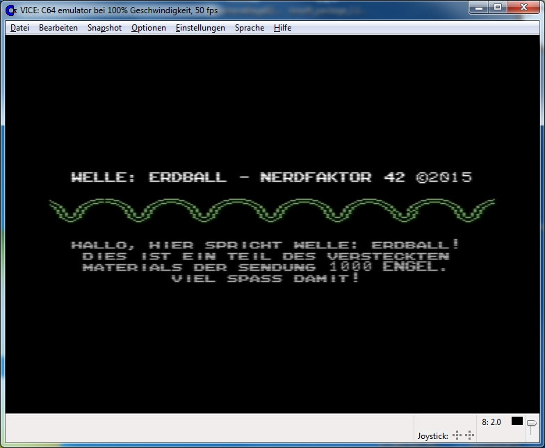 Screenshot C64 Emulator