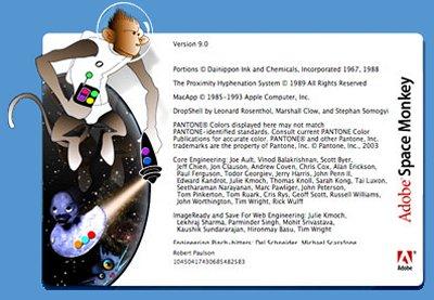 alternativer Info-Bildschirm - Space Monkey -