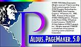About-Bildschirm von Aldus Pagemaker