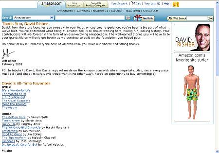 versteckte Webseite von Amazon