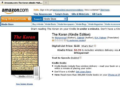 Respekt: Amazons Webseite mit den Autoren Mohamed und Gabriel