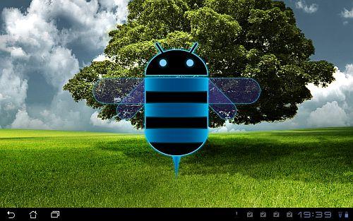Android-Bildschirm mit Android Biene