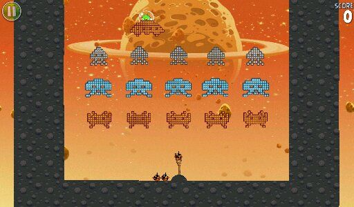 Space Invaders in Angry Birds