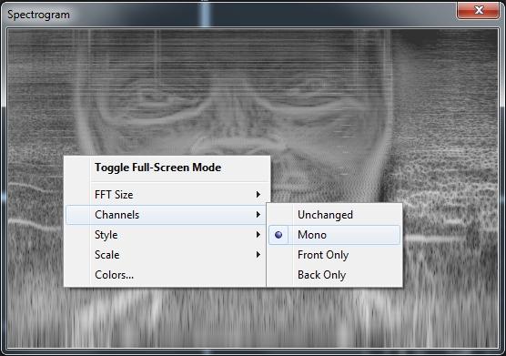 Einstellung auf Mono zeigt nur ein Gesicht, bei beiden Kanälen sind es dann 2 Gesichter