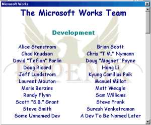 Das Microsoft Works Team