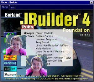 Entwickerabspann von JBuilder 4