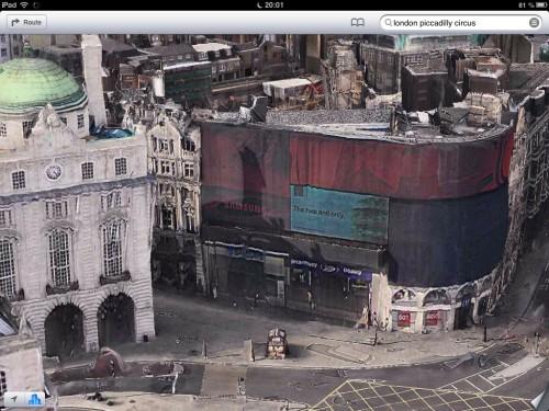 Samsung Werbung am Piccadilly Circus, London