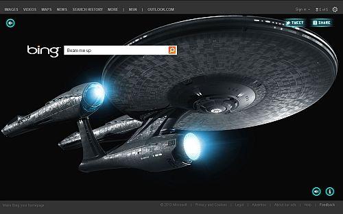 Enterprise als Hintergrundbild
