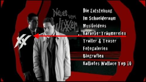 Screenshot vom Auswahlmenü