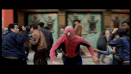 Spiderman im Film The Italian Job