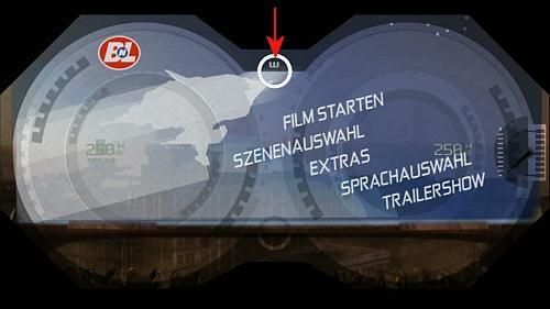 Diesen Menüpunkt drücken für eine kurze animation WAL.E