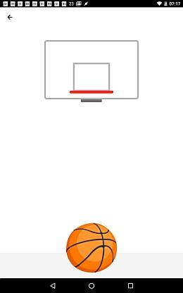 Basketball Spiel im Facebook Messenger