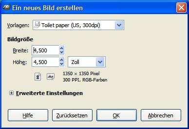 Papierauswahl mit Toilettenpapier