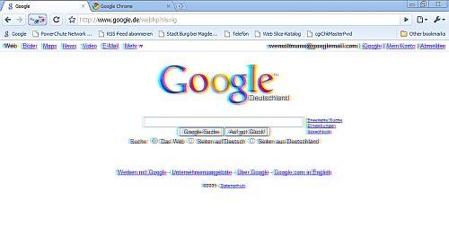 So sieht eine Webseite in 3D dann aus.