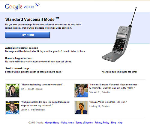 Google Voice Mail